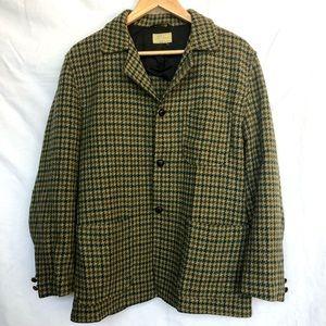 VTG 60s LL Bean Cursive Plaid Wool Blazer Jacket